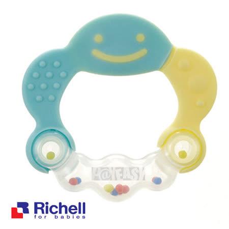 Richell日本利其爾 固齒器-水藍色有聲音(盒裝)