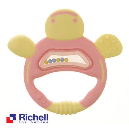 Richell日本利其爾 固齒器-粉紅色手指形狀(盒裝)