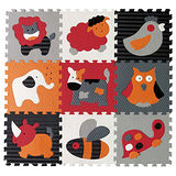【BabyTiger虎兒寶】MIT 遊戲爬行地墊-魔術方塊系列(繽紛動物)