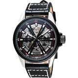 epos skeleton 經典鏤空機械腕錶-銀x黑 3425.135.35.15.24