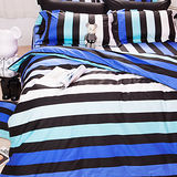 OLIVIA《LOFT工業風 FANTASY 藍》加大雙人床包枕套三件組