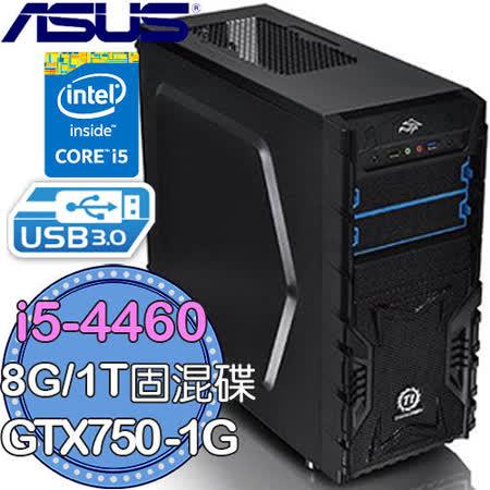 ASUS 華碩 B85 平台蓋世王朝 i5 四核心 GTX750-1G 高速電競電腦