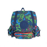 【Kipling】比利時品牌 限量花色款 探險活寶 大旅者束口後背包 熱帶雨林 K-374-5057-040