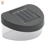 月陽太陽能充電式自動光控4LED台階燈階梯燈柵欄燈籬笆燈超值2入(2022)
