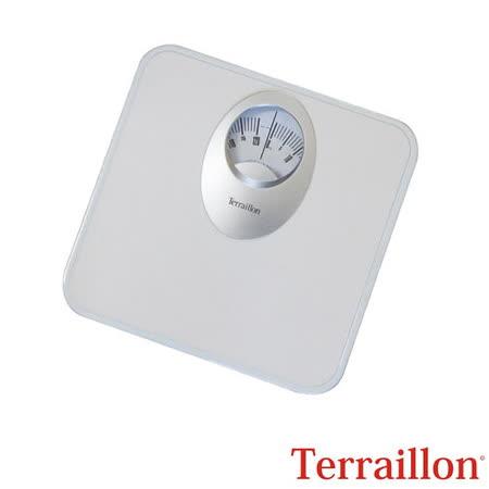 【法國 Terraillon】居家&浴室指針式體重計-白