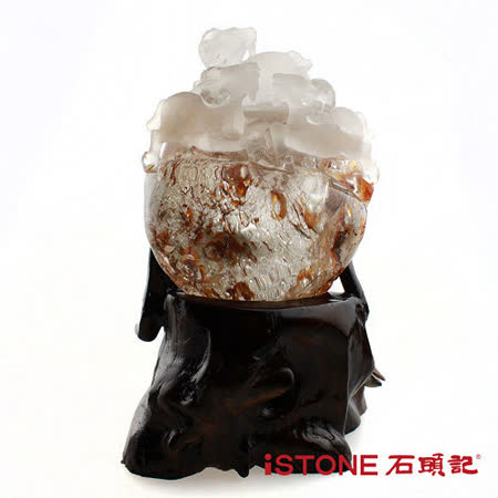 石頭記 納財聚寶幻象水晶球-三陽開泰