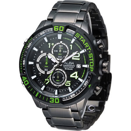 ALBA 雅柏 坦克戰隊時尚腕錶 VD57-X016G AM3101X1