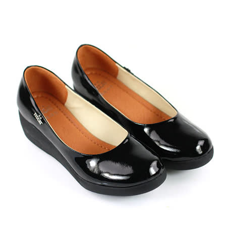 【Pretty】簡約百搭厚底楔型包鞋