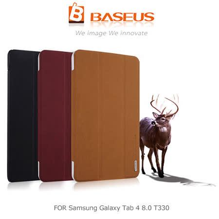 BASEUS 倍思 Samsung Galaxy Tab 4 8.0 T330 雅格三折磨砂皮紋皮套