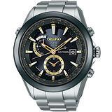SEIKO ASTRON GPS 太陽能【鈦】衛星電波腕錶(黑+金針/47mm) 7X52-0AA0K