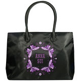 ANNA SUI安娜蘇 經典紫蝶購物包(40*30*11.5cm)