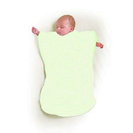 美國 Summer Infant 蝴蝶背心睡袋(嫩綠條紋)
