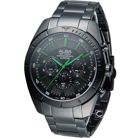 ALBA 雅柏 急速賽車手計時腕錶 VD53-X150G AT3603X1