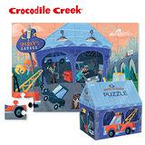 【美國Crocodile Creek】建築造型盒拼圖系列-汽車維修站