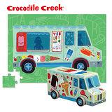 【美國Crocodile Creek】汽車造型盒拼圖系列-冰淇淋車