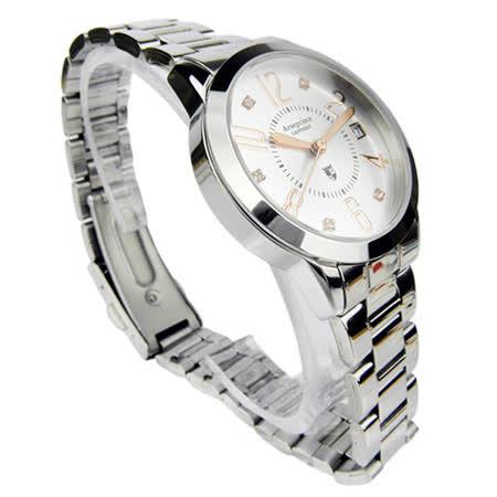 【Arseprince】時尚簡約晶鑽女錶-白