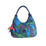 【Kipling】比利時品牌 限量花色 三夾層圓提把弧形肩背包 熱帶雨林 K-374-5295-040