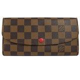 Louis Vuitton LV N63544 EMILIE 棋盤格紋扣式拉鍊零錢長夾_現貨