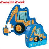 【美國Crocodile Creek】迷你造型拼圖系列-挖土機