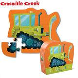 【美國Crocodile Creek】迷你造型拼圖系列-推土機