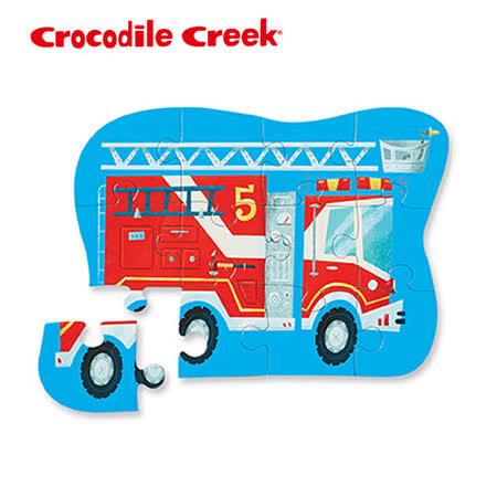 【美國Crocodile Creek】迷你造型拼圖系列-消防車