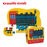 【美國Crocodile Creek】迷你造型拼圖系列-蒸汽火車