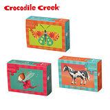 【美國Crocodile Creek】火柴盒雙面拼圖系列-女孩3入組