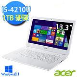 Acer V3-371-67HZ 13.3吋 第四代 i5-4210U  Win8.1 極致輕薄長效筆電 (白)