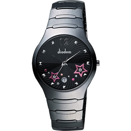 Diadem 黛亞登 浪漫星空陶瓷腕錶-黑 9D1407-541DD-D