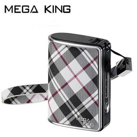 《MEGA KING》 隨身電源 6000 iFashion 黑白格紋 (已通過政府BSMI認證)