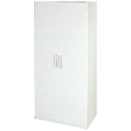 Bernice-2.7尺防水防蛀塑鋼雙吊衣櫃(白色)
