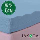 【JAKOTA】3M吸濕排汗6CM蛋型記憶床墊-單人3X6.2尺