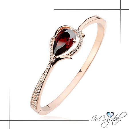 【伊飾晶漾】水晶耀鑽*流線金框手環