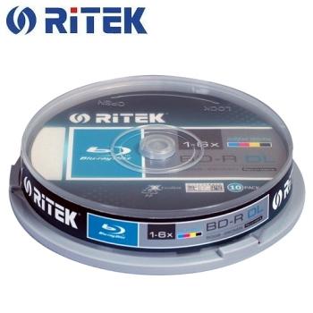 錸德 Ritek 藍光 Blu-ray X版 BD-R 6X DL 50GB 珍珠白滿版可印片 布丁桶裝(10片)