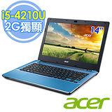 Acer E5-471G 14吋 i5-4210U 雙核 2G獨顯 筆電–送收納箱+acer無線滑鼠