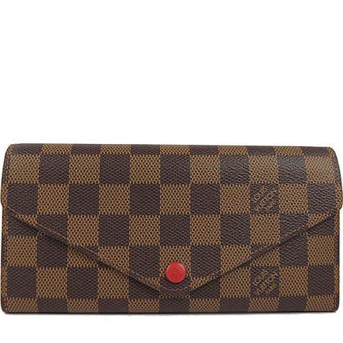 Louis Vuitton LV N63543 JOSEPHINE 棋盤格紋三折活動零錢長