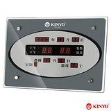 【KINYO】LED電子萬年曆掛鐘(TD-329)