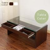 《BuyJM》防潑水強化玻璃雙向收納茶几桌/和室桌(2色)
