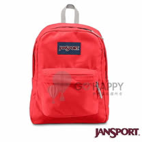 Jansport 25L 簡單休閒後背包(亮紅)