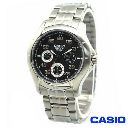 CASIO 日系卡西歐EDIFICE 三環時尚錶 EF-317D-1A