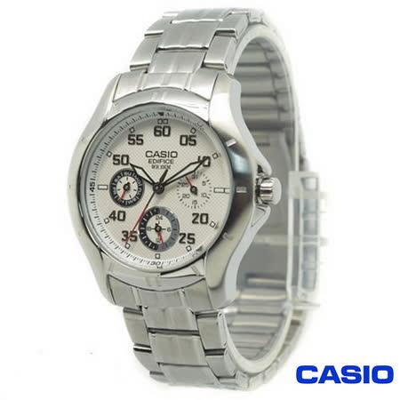 CASIO 日系卡西歐EDIFICE 三環時尚錶 EF-317D-7A
