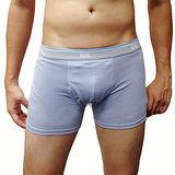 【BVD】接觸冷感系列 基本款男褲(藍銀)