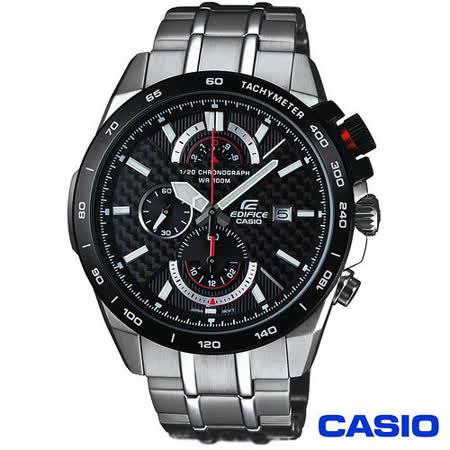 CASIO EDIFICE系列時尚科技感三眼賽車腕錶 EFR-520SP-1A