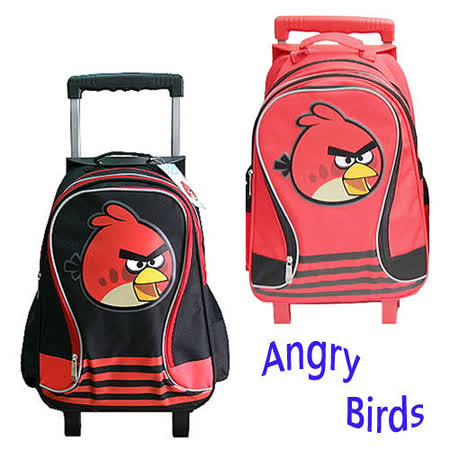 【Angry Birds】憤怒鳥三段式不可拆拉桿後背書包(二色可選)