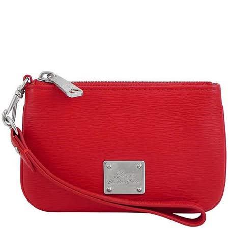 【好物分享】gohappyRALPH LAUREN 紅色皮革壓紋手拿包價錢新光 三越 南西 店