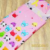 【BEDDING】可愛微笑 100%棉 舖棉冬夏兩用兒童睡袋