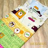 【BEDDING】快樂字母 100%棉 舖棉冬夏兩用兒童睡袋