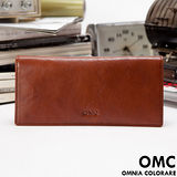 OMC - 韓系原皮魅力真皮款11卡1照長夾