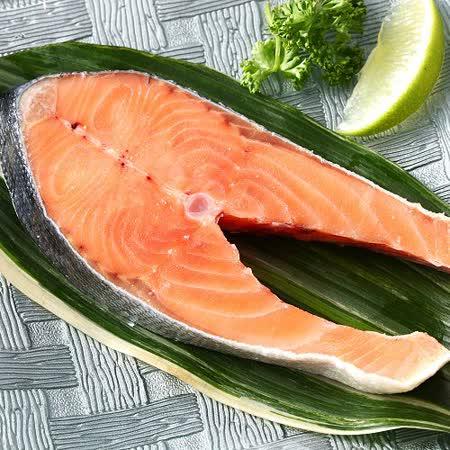 【上野物產】阿拉斯加野生大鮭魚切片4片(375g土10%/片)(含冰重)