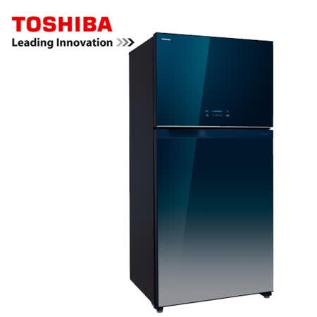 TOSHIBA 554公升 變頻玻璃鏡面冰箱